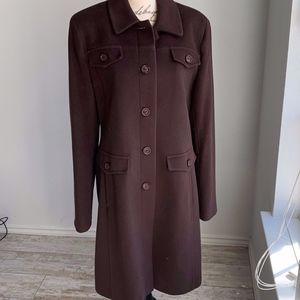 Via Spiga Wool/Cashmere Blend Dress Coat Size 14
